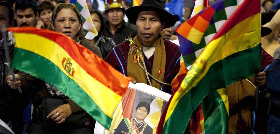 Movimientos sociales respaldan al Presidente Evo Morales / Foto: Fernanda LeMarie - Cancillería./ cc Flickr Ricardo Patiño, modified, https://creativecommons.org/licenses/by-sa/2.0/