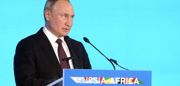 Putin Speech at Russia-Africa summit, modified, http://en.kremlin.ru/events/president/news/61891, cc kremlin.ru