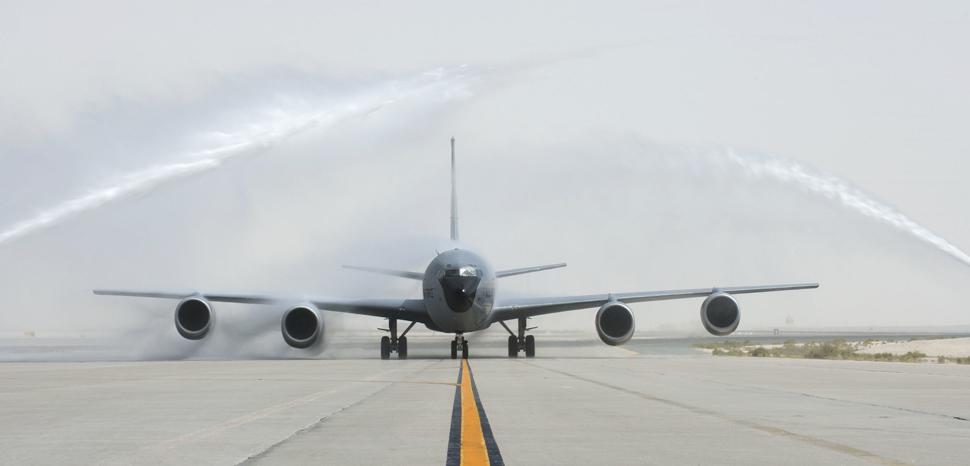 Last flight at Al Udeid Air Base, cc Flickr U.S. Department of Defense Current Photos, modified, public domain