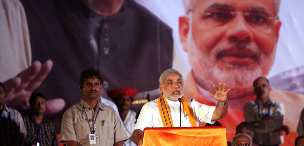 Modi Rally 2009, cc Al Jazeera, modified, https://creativecommons.org/licenses/by-sa/2.0/