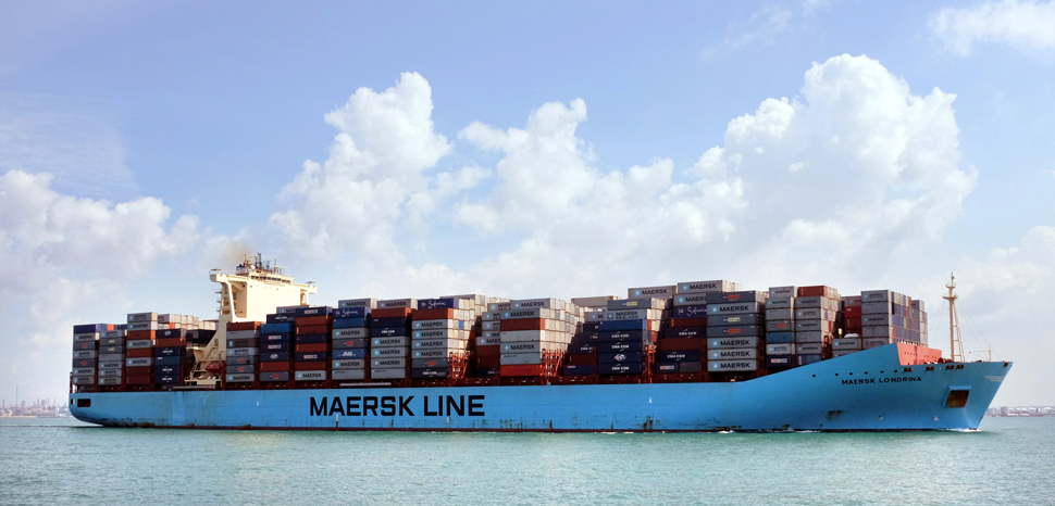 MaerskShip, cc Flickr Jnzl's Photos, modified, https://creativecommons.org/licenses/by/2.0/