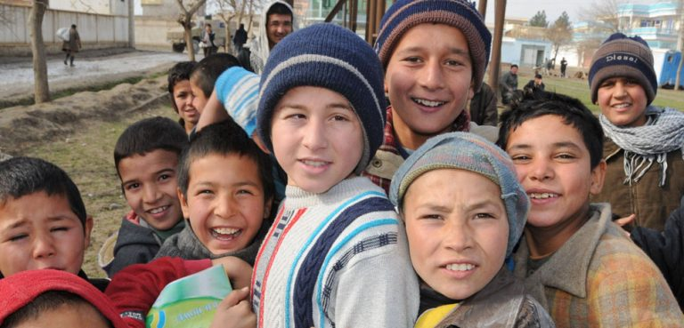 A group of Afghan children in Mazari Sharif; these children are not Bacha Bazi. CC Flickr Afghanistan Matters, modified, https://creativecommons.org/licenses/by/2.0/