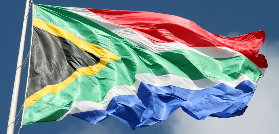 SouthAfricaFlag, cc Flickr flowcomm, modified, https://creativecommons.org/licenses/by/2.0/