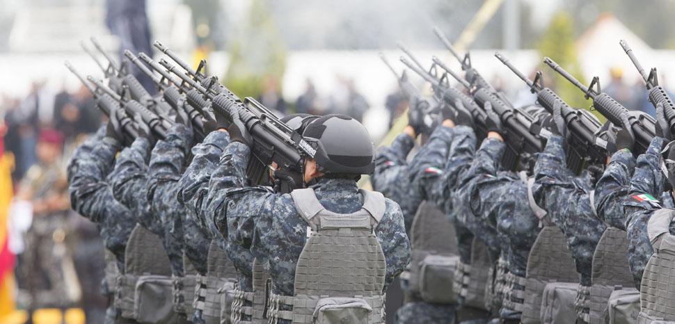 Ceremonia de presentación y abanderamiento de la Nueva División de Gendarmería de la Policía Federal. Ciudad de México. 22 de agosto de 2014., Presidencia de la República Mexicana, modified, https://www.flickr.com/photos/presidenciamx/14817406378/in/photolist-ozn5FL-ozn5q5-oPPEB3-oRPywS-oRPDQN-ozmDBP-ozn9eN-oPPKcW-JvZhiW-JvZhsU-JvZhAQ-JvZhoL-oPPJLf-oRPACA-oznwTK-oRzEnr-oRzEzR-oznAex-oPPJ81-oPPGLU-oznxJc-oznz4X-ozmDwZ-ozmTry-oRzEqT-oRPyS1-ozn93q-ozn7pA-oPPJ9d-oPPEys-oPPFtU-ozmSym-oPPJpo-oRPAxW-oznwXT-oRPz5W-oRPAyC-ozn9bS-oPPDWW-oRzChe-ozn8VG-oRzDeV-oRPBt3-oRzDAM-oRPBL7-oRPyBG-oPPFTb-oznw4D-ozn9CJ-oRzDTv