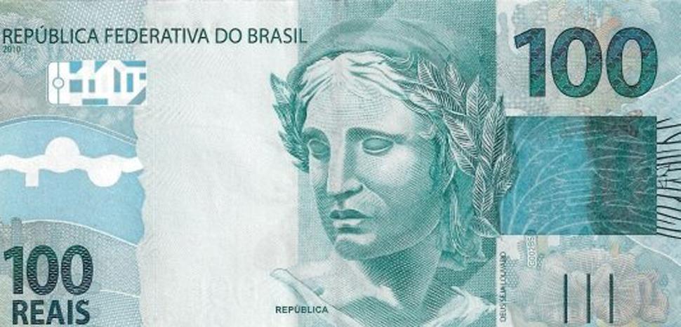 cc Rawlan1998, wikicommons, modified, https://commons.wikimedia.org/wiki/File:100_Brazil_real_Second_Obverse.jpg