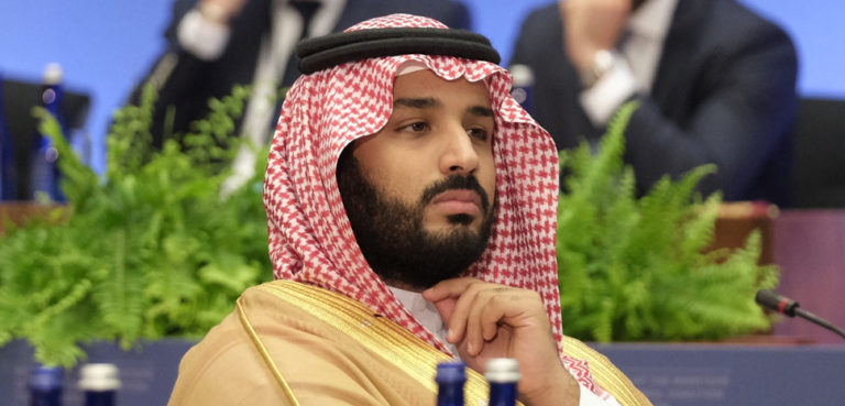 Deputy Crown Prince, Second Deputy Prime Minister and Minister of Defense of the Kingdom of Saudi Arabia, Mohammad Bin Salman bin Abdulaziz Al-Saud participates in the Counter-ISIL Ministerial Joint Ministerial Plenary Session, at the U.S. Department of State in Washington, D.C. on July 21, 2016. [State Department Photo/Public Domain], https://commons.wikimedia.org/wiki/File:Deputy_Crown_Prince_Mohammad_Bin_Salman_bin_Abdulaziz_Al-Saud_Participates_in_the_Counter-ISIL_Ministerial_Plenary_Session_-_Flickr_-_U.S._Department_of_State_(cropped).jpg