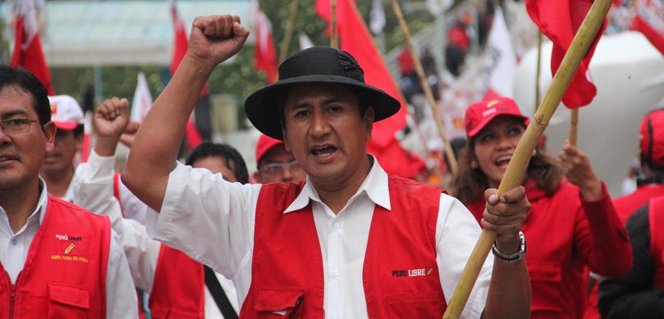 Peru Libre in 2014, cc Roy Cerrón Rojas, modified, wikicommons, https://commons.wikimedia.org/wiki/File:Campa%C3%B1a_Per%C3%BA_Libre.JPG
