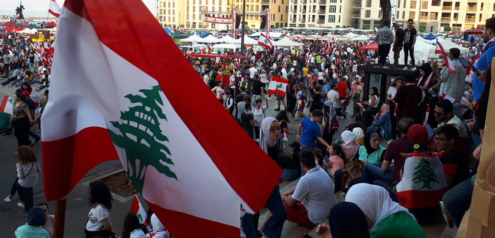 cc Freimut Bahlo, modified, https://commons.wikimedia.org/wiki/File:Protests_in_Beirut_27_October_14.jpg